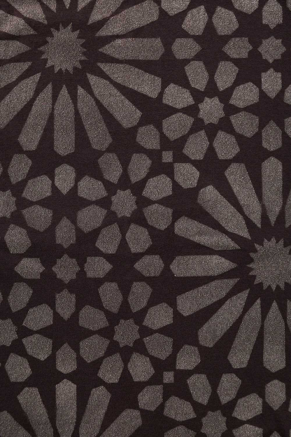 The School of Making Facets Stencil Abstract Floral Stencil Design for Hand-Painted DIY Clothing Projects in Brown