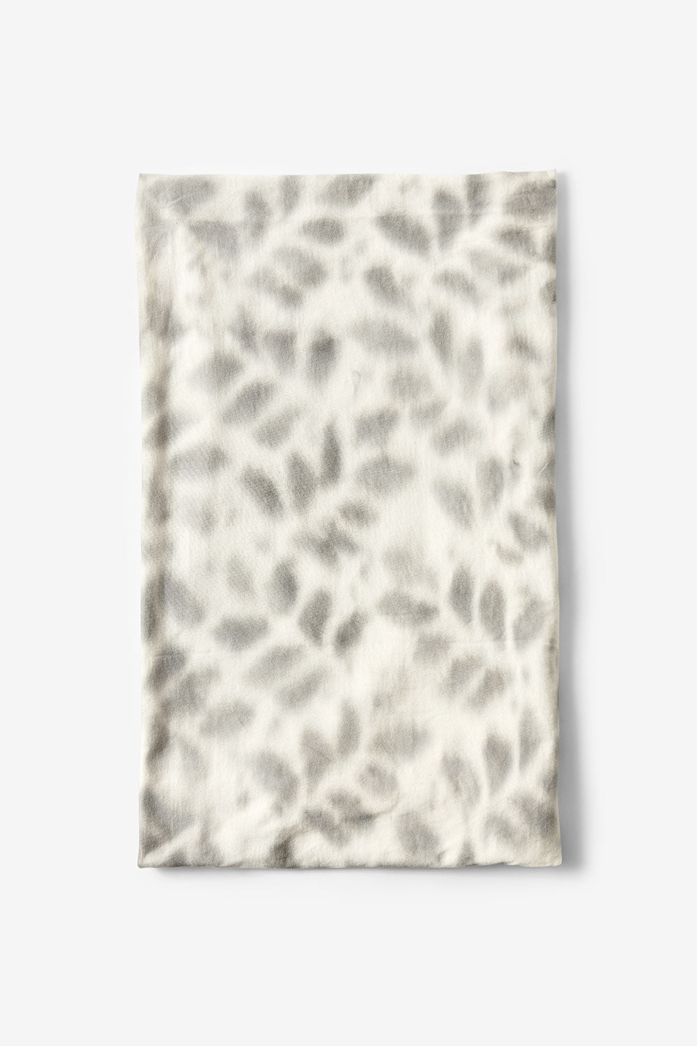 The School of Making Faded Bloomers Fabric Stenciled Floral Pattern in Natural and Light Grey