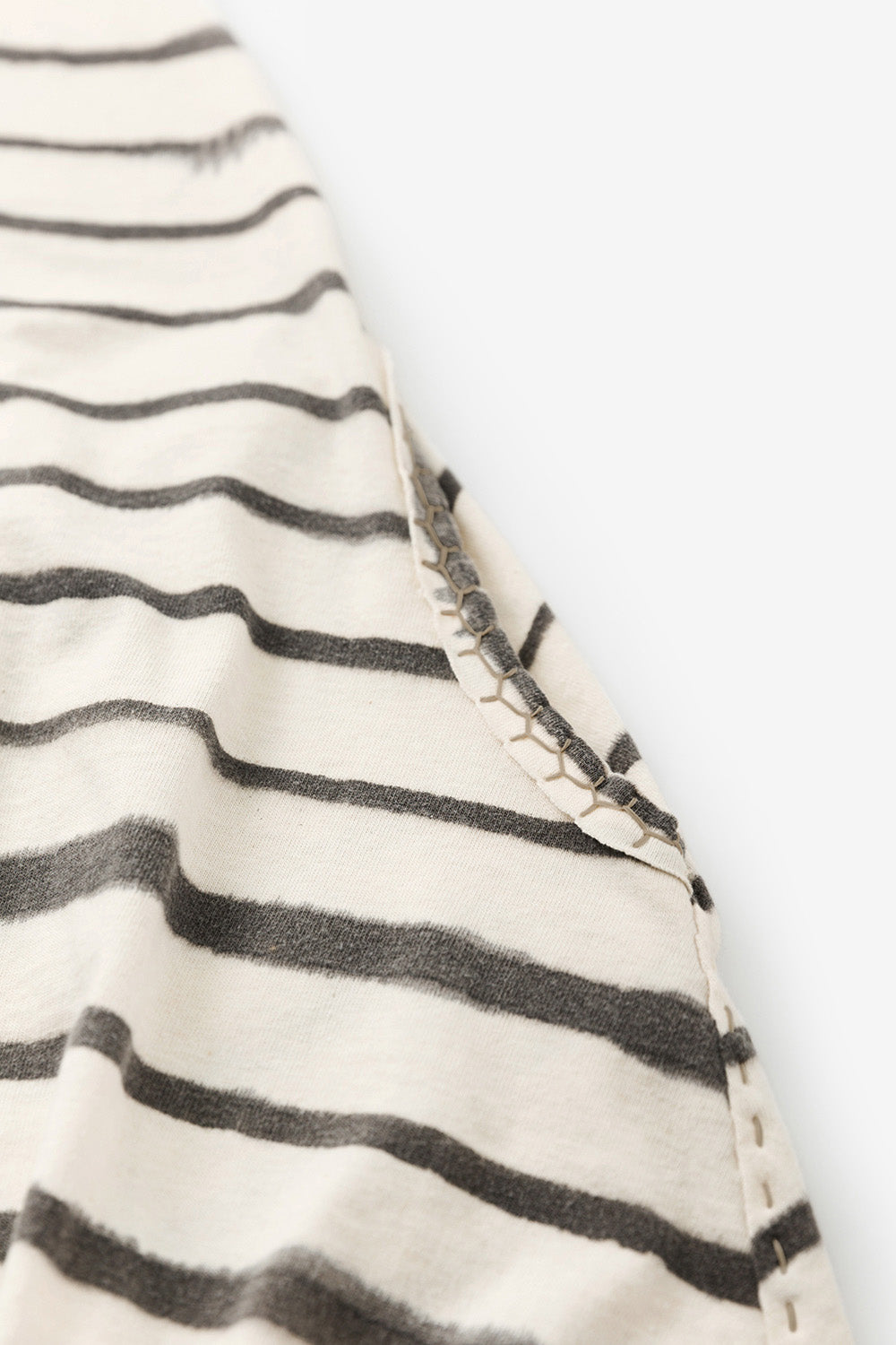 The School of Making Faded Stripe Keyhole Tunic Kit Hand-Sewn made with Organic Cotton