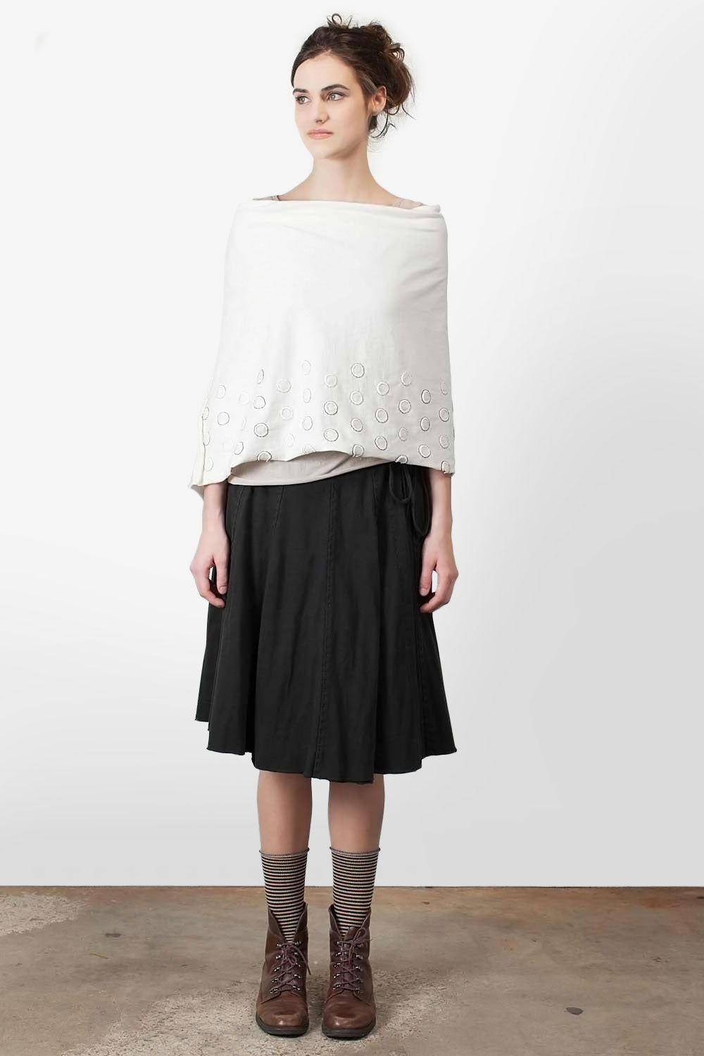 The School of Making Full Wrap Skirt Pattern Hand-Sewn Wrap Skirt made with Organic Cotton