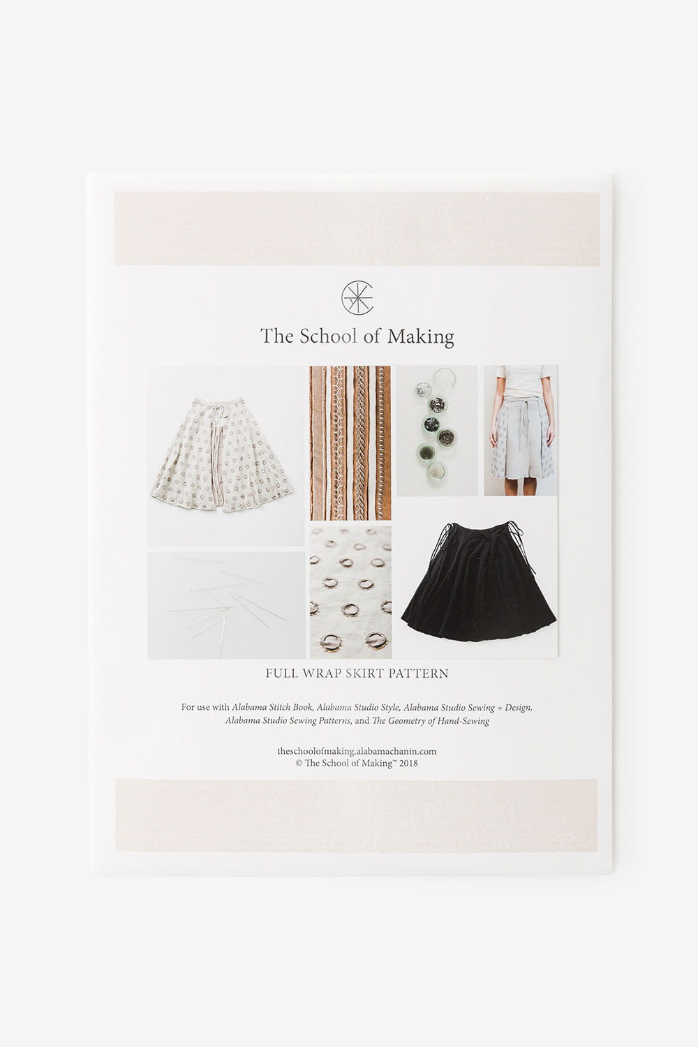 The School of Making Full Wrap Skirt Pattern Maker Supplies for Hand-Sewing