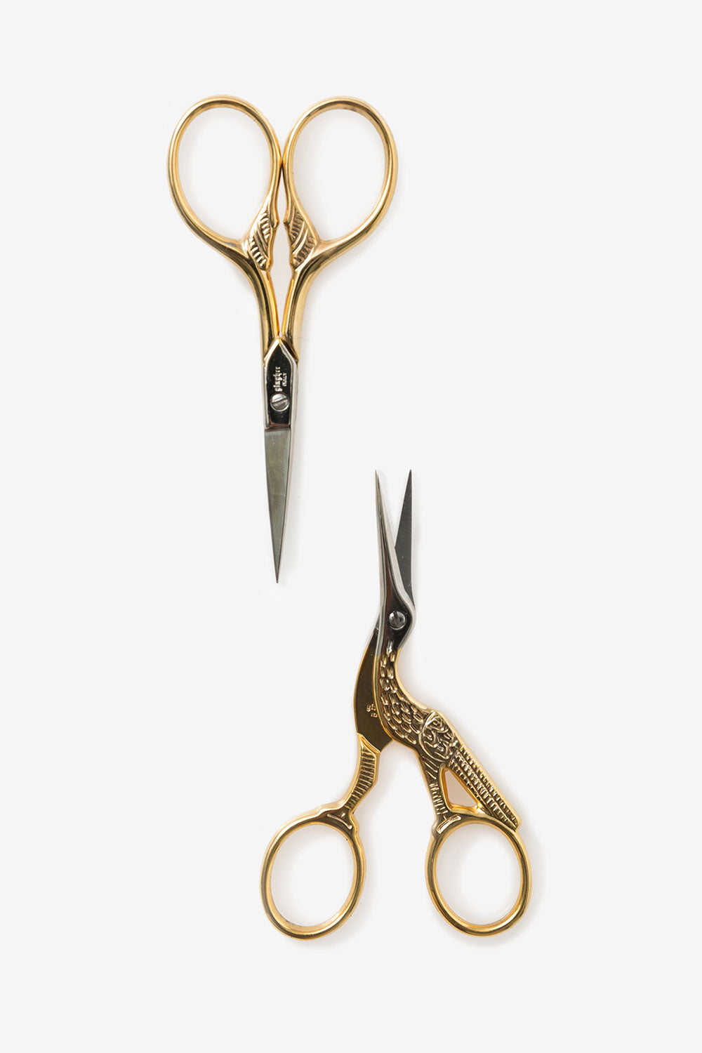 The School of Making Gold-Handled Embroidery Scissors Gingher