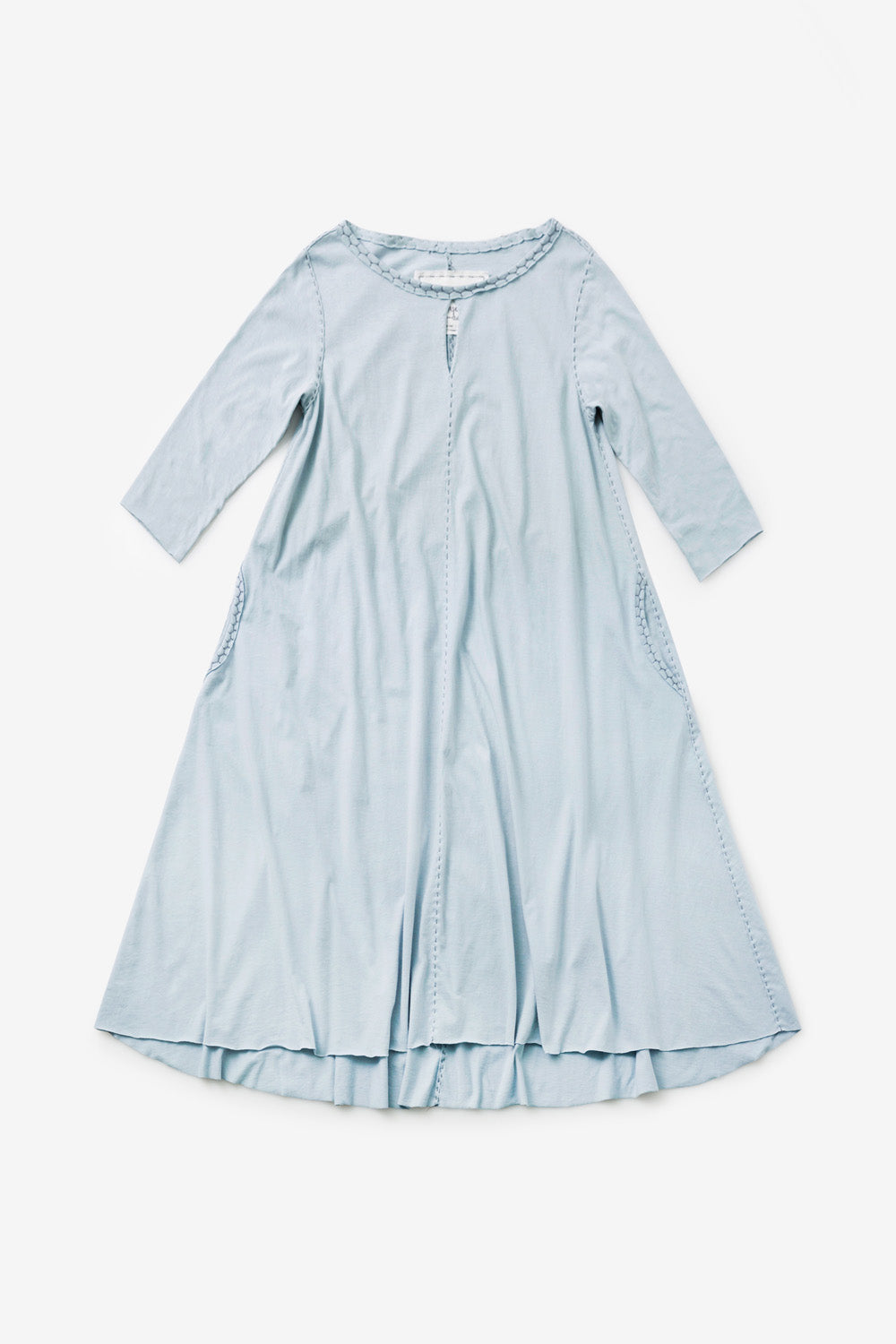 the school of making organic cotton keyhole a line dress kit baby blue