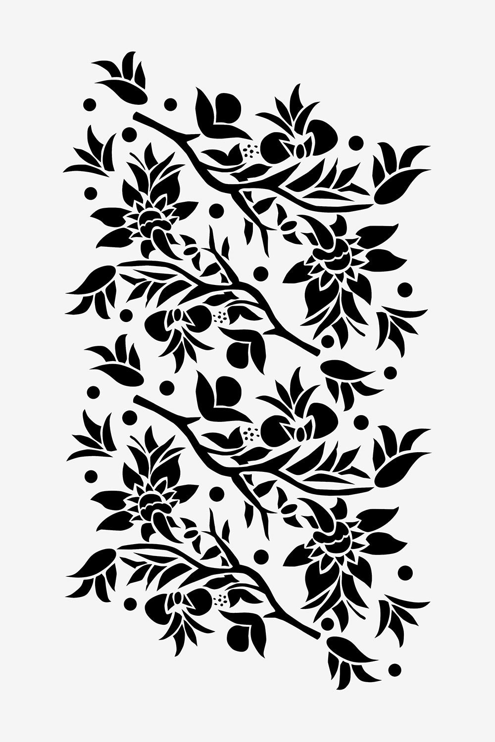 The School of Making Large Paradise Flower Stencil Floral Stencil Design for Hand-Painted DIY Clothing Projects