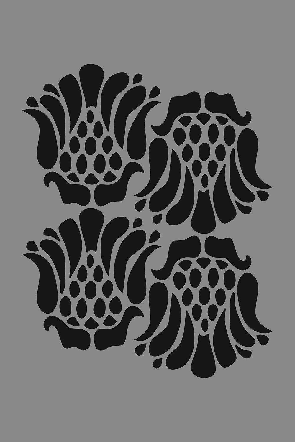 The School of Making Marie Stencil Floral Stencil Design for Hand-Painted Clothing Projects