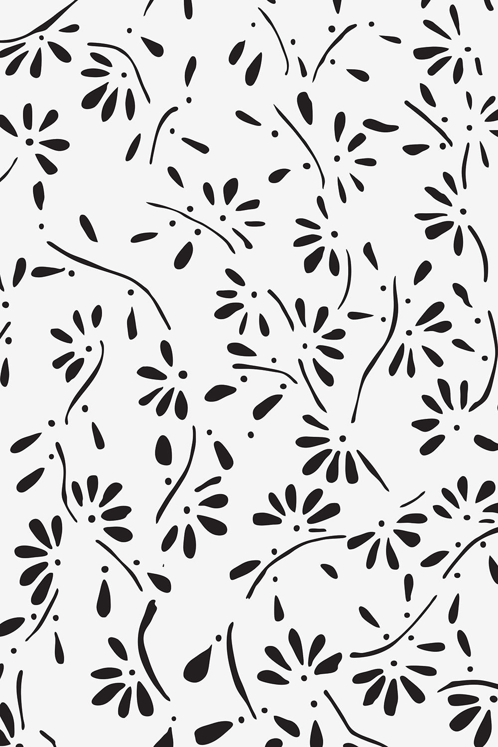 The School of Making Mylar Climbing Daisy Stencil for Embroidery DIY Kits