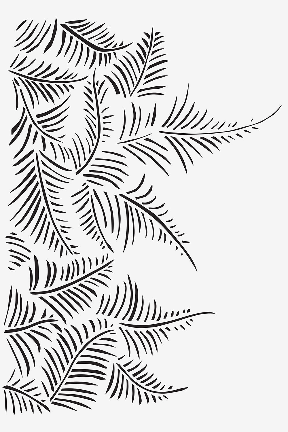 The School of Making Mylar Fern Stencil for Hand Sewn Embroidered DIY Kits