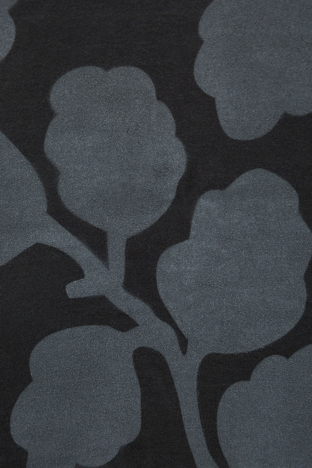 The School of Making New Leaves Stencil Design Floral Pattern Hand-Painted Design in Black and Tonal Paint