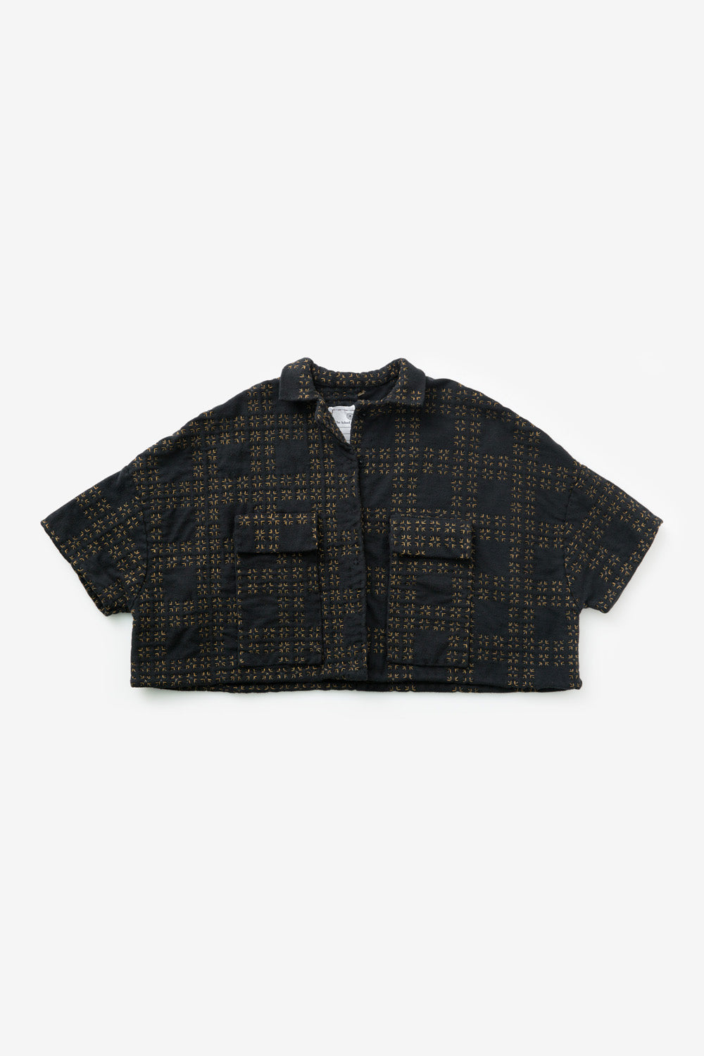 The School of Making The Cropped Car Jacket  with Elbow Sleeves In Black