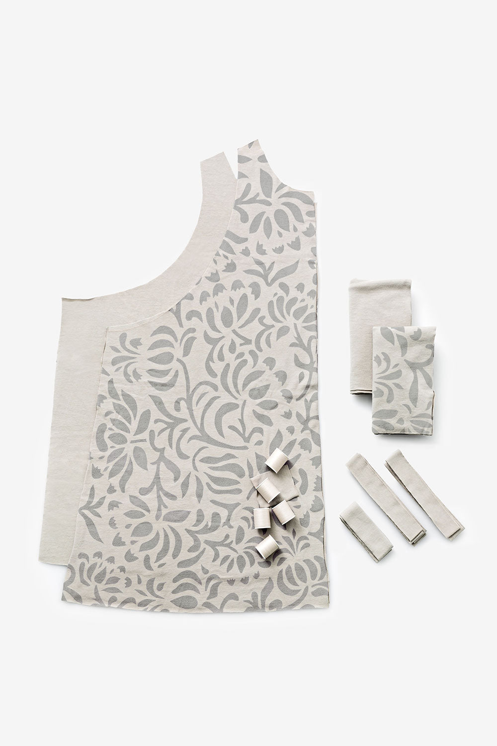 The School of Making Maggie Tunic Kit Organic Cotton DIY Kit Contents Handsewn