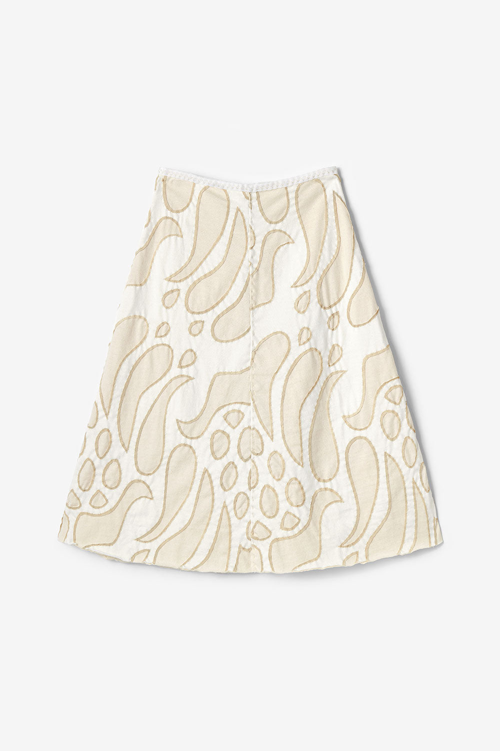 The School of Making Swing Skirt DIY Kit Organic Cotton Natural White Pattern