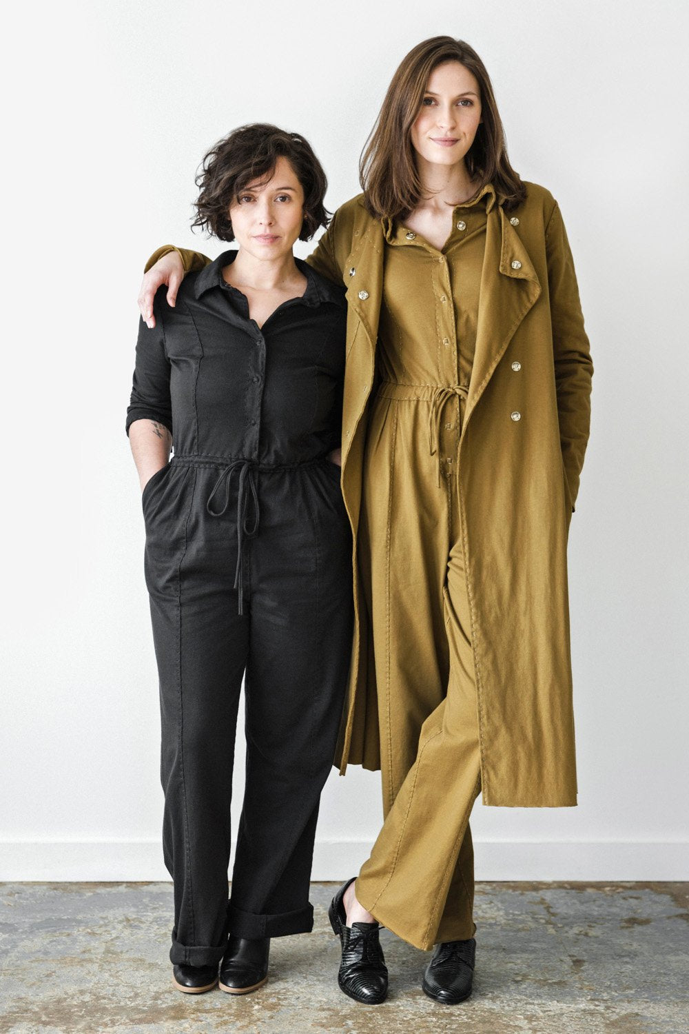 the school of making diy jumpsuit kit made with organic cotton hand sewn project