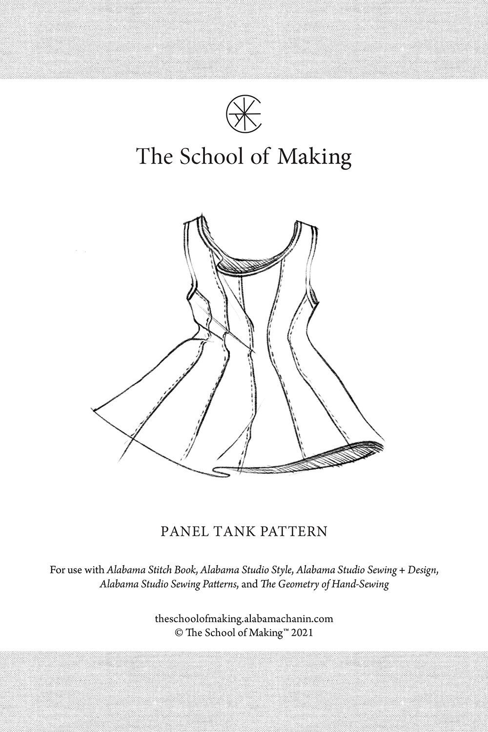The School of Making Panel Tank Pattern Sewing Supplies for DIY Clothing