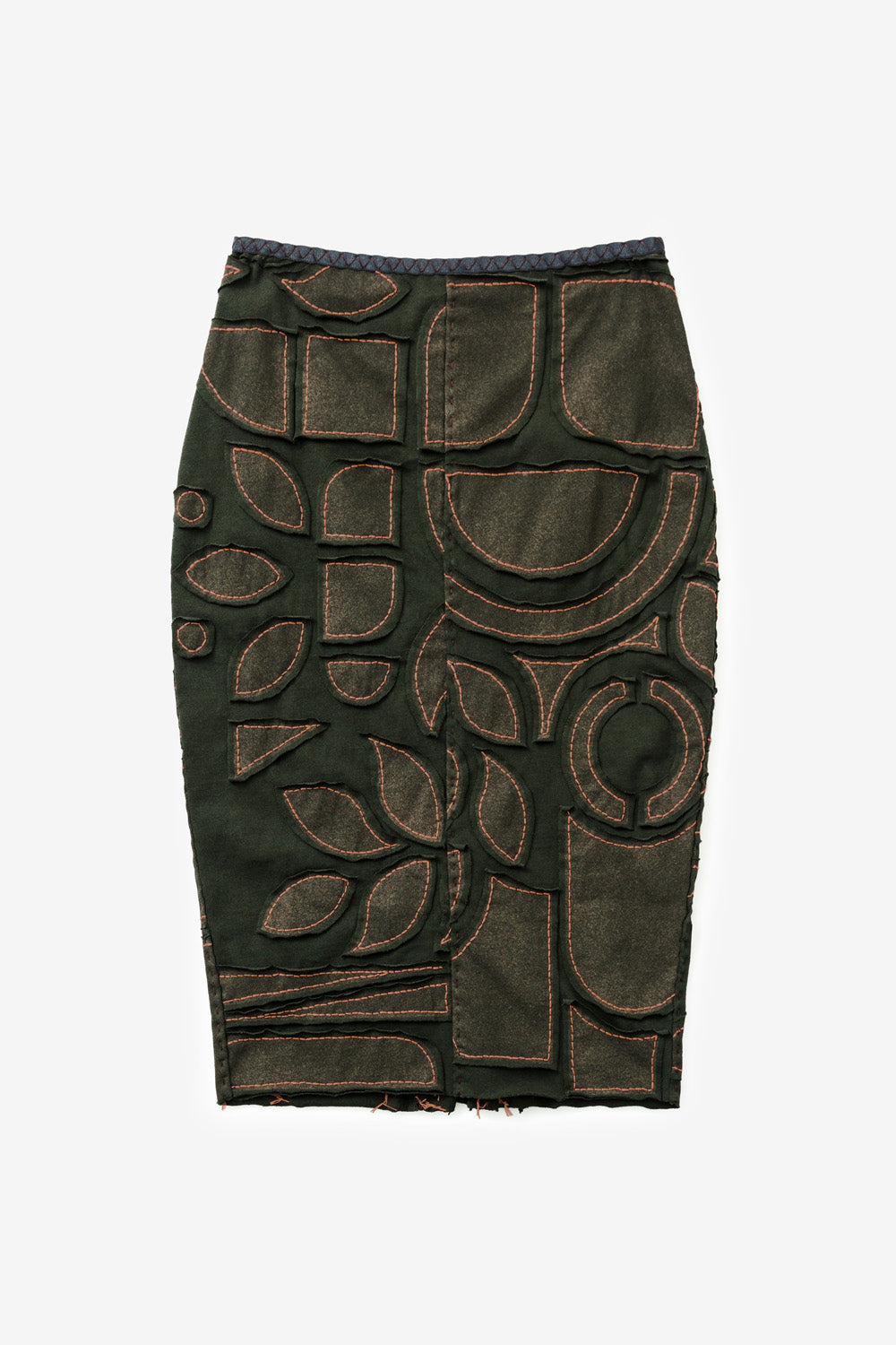 The School of Making The Pencil Skirt with Abstract Hand Painted Pattern