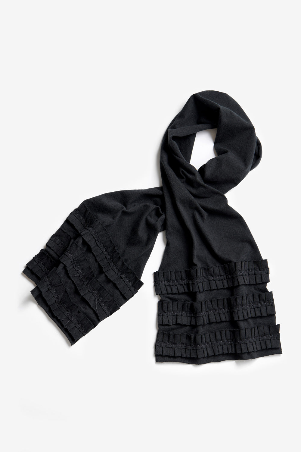 The School of Making Ruffle Scarf Kit with Hand-Sewn Pleated Ruffle