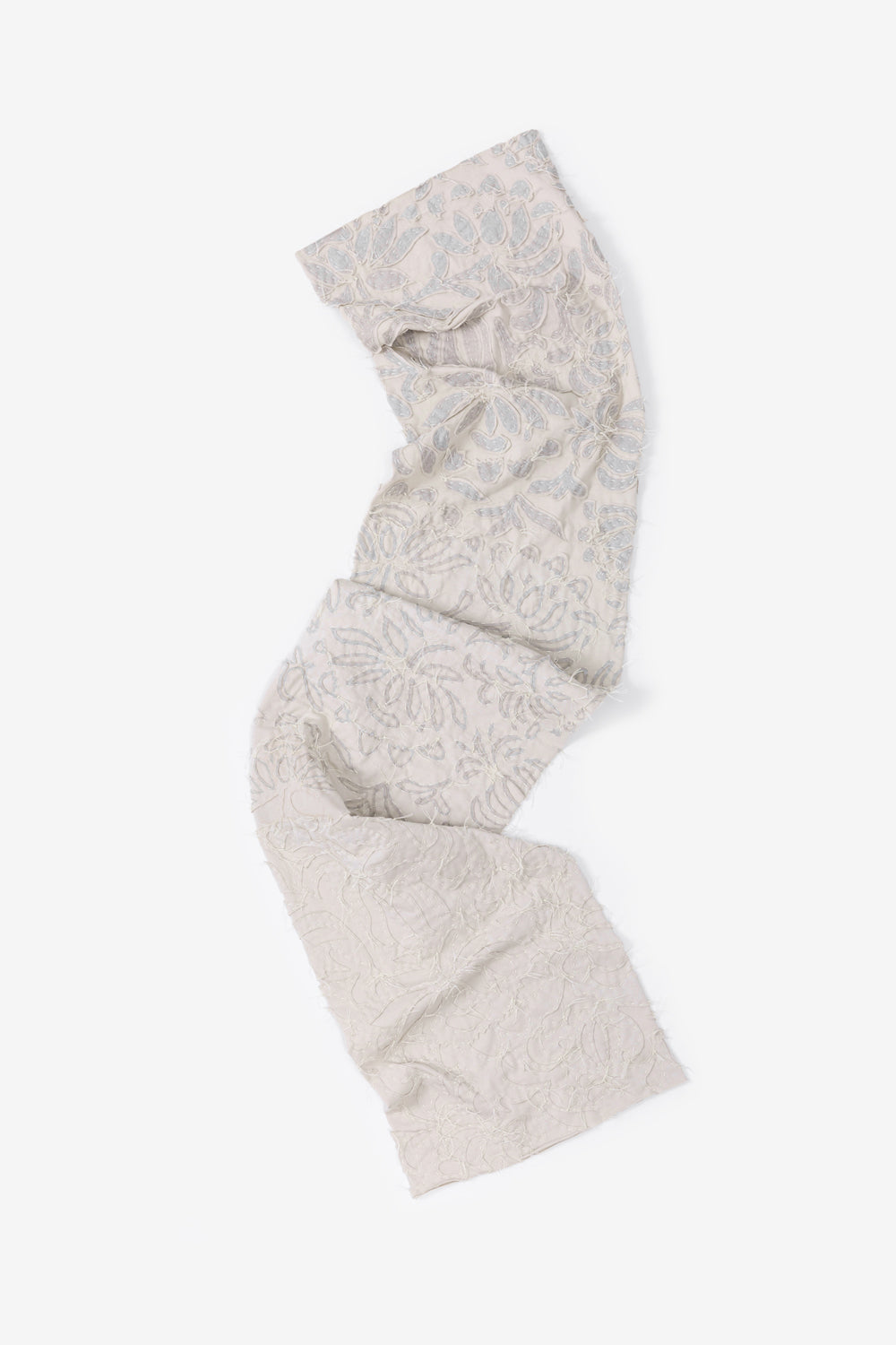 The School of Making Slim Scarf DIY Kit in Transitional Embroidery on 100% Organic Cotton Jersey