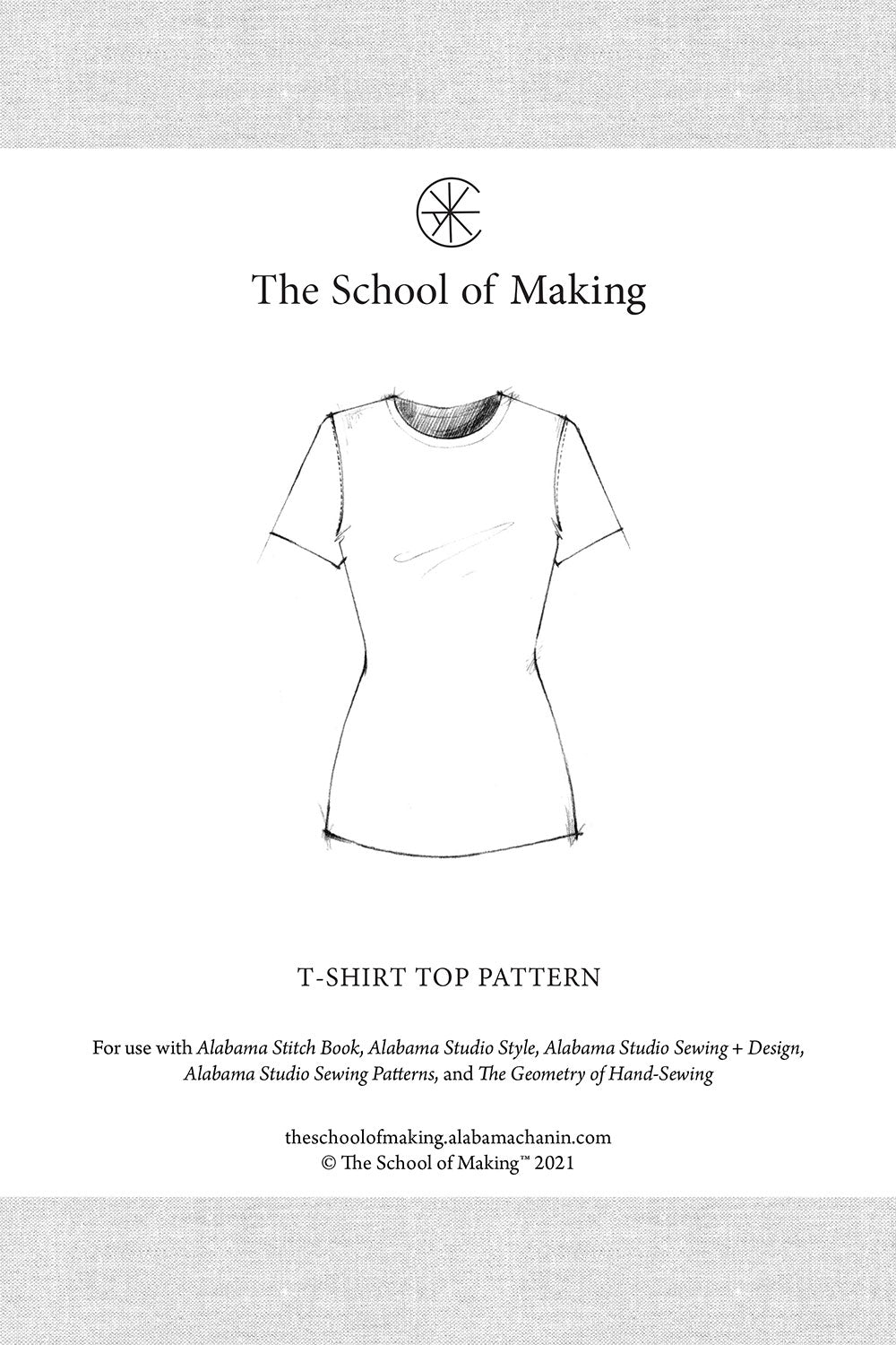 The School of Making T-Shirt Top Pattern for Womens Hand-Sewn Short Sleeve Fitted top