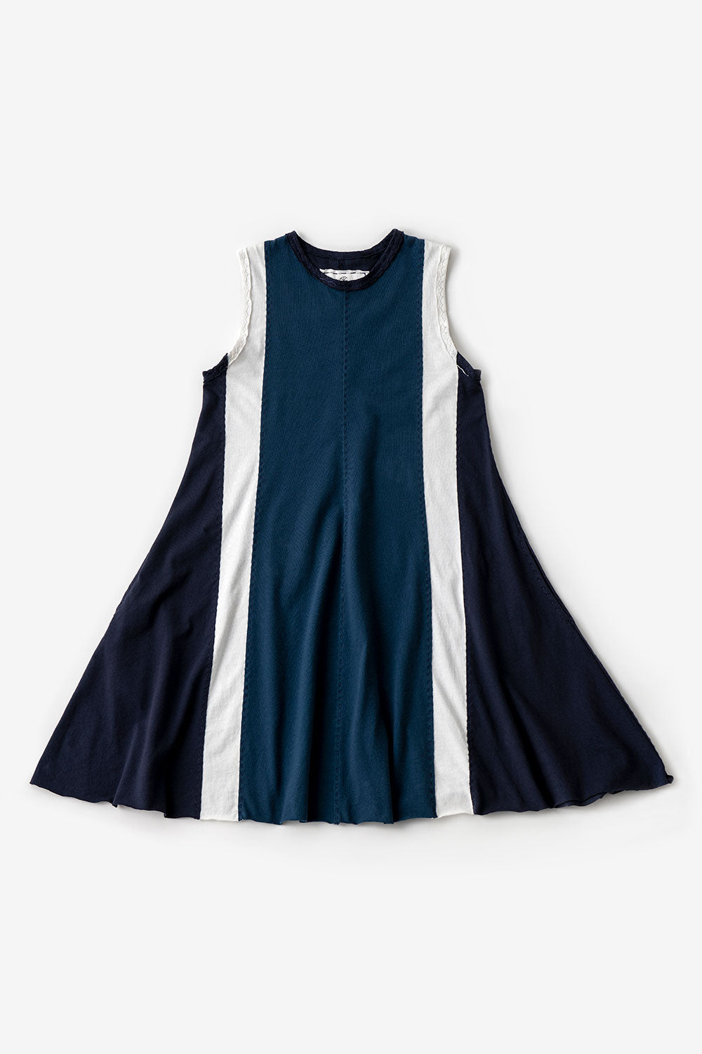 The School of Making The A-Line Dress Bundle 100% Organic Cotton Fabric and Women's A-Line Dress Hand Sewn DIY Clothing Project for Women