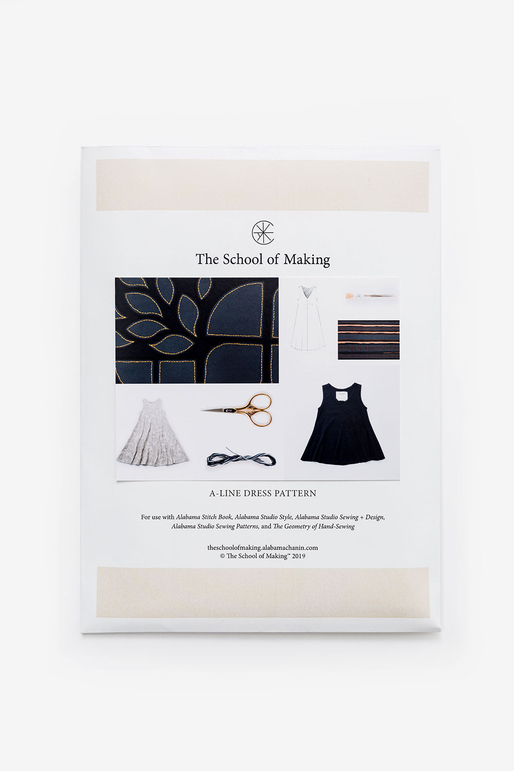 The School of Making The A-Line Dress Bundle Women's A-Line Dress Pattern for Hand Sewing DIY Clothing