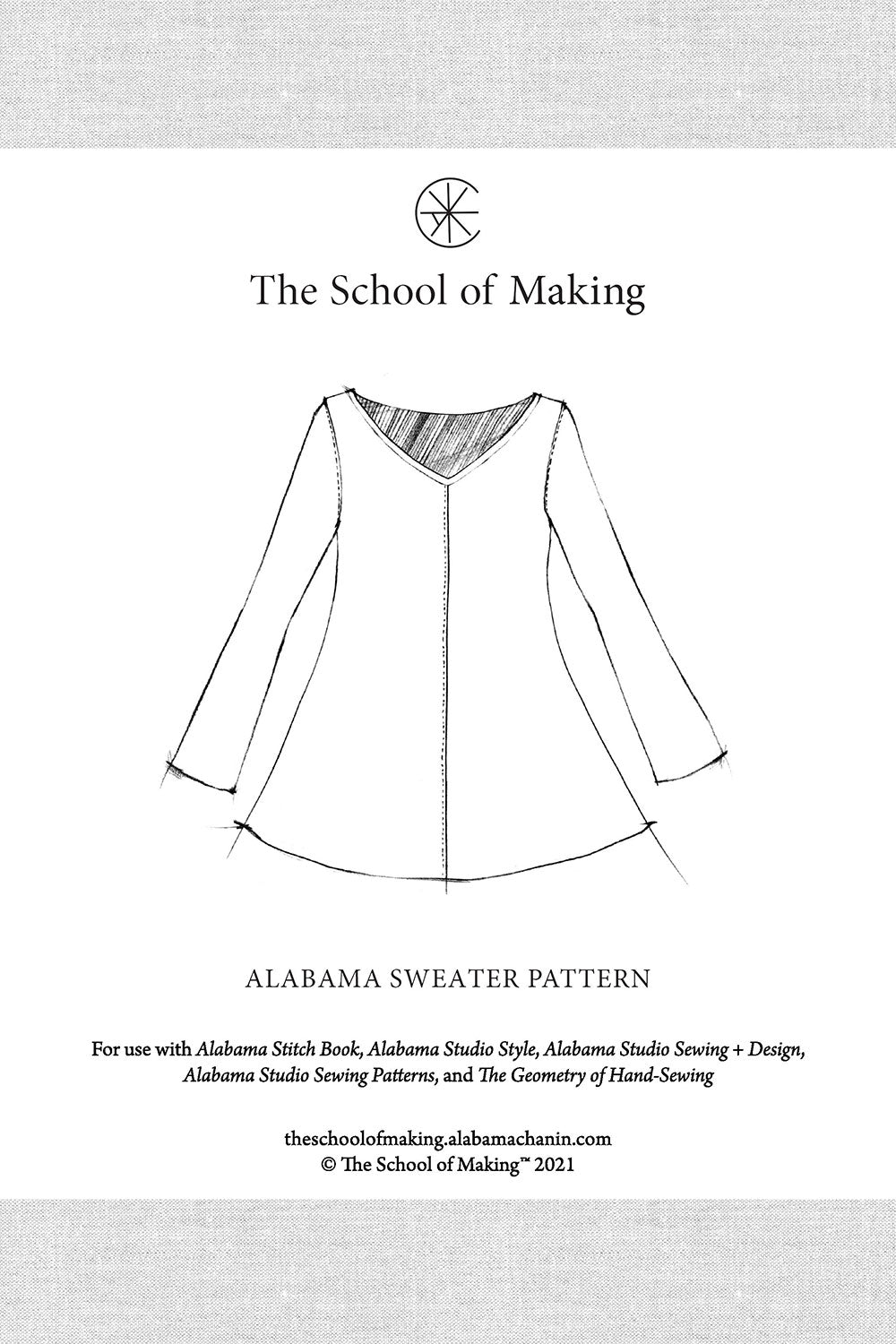 The School of Making Alabama Sweater Pattern Sewing Pattern for Hand-Sewing Clothing