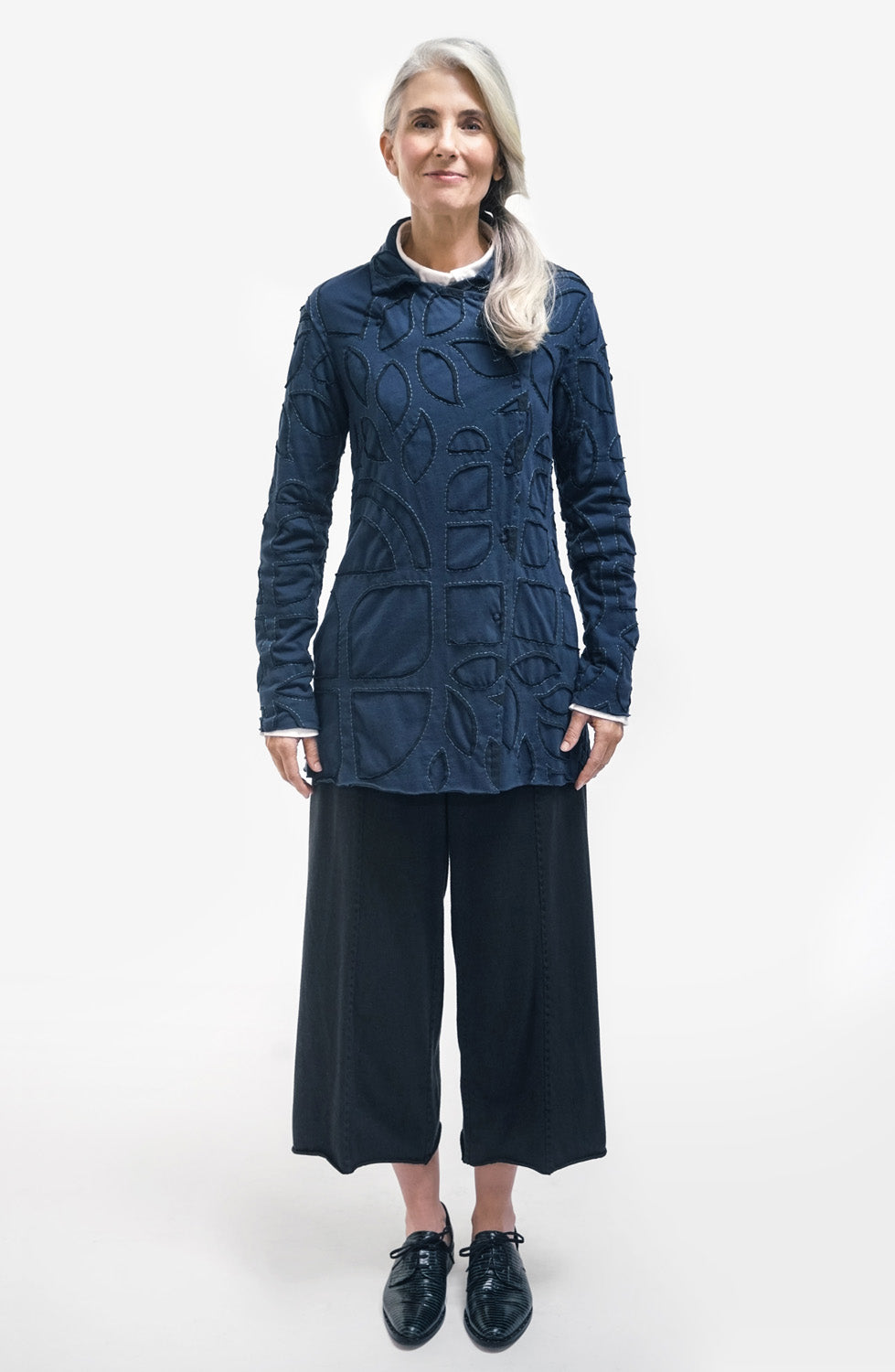 The School of Making The Asymmetrical Peacoat Kit DIY Hand-Sewn and Hand Painted Coat with Collar