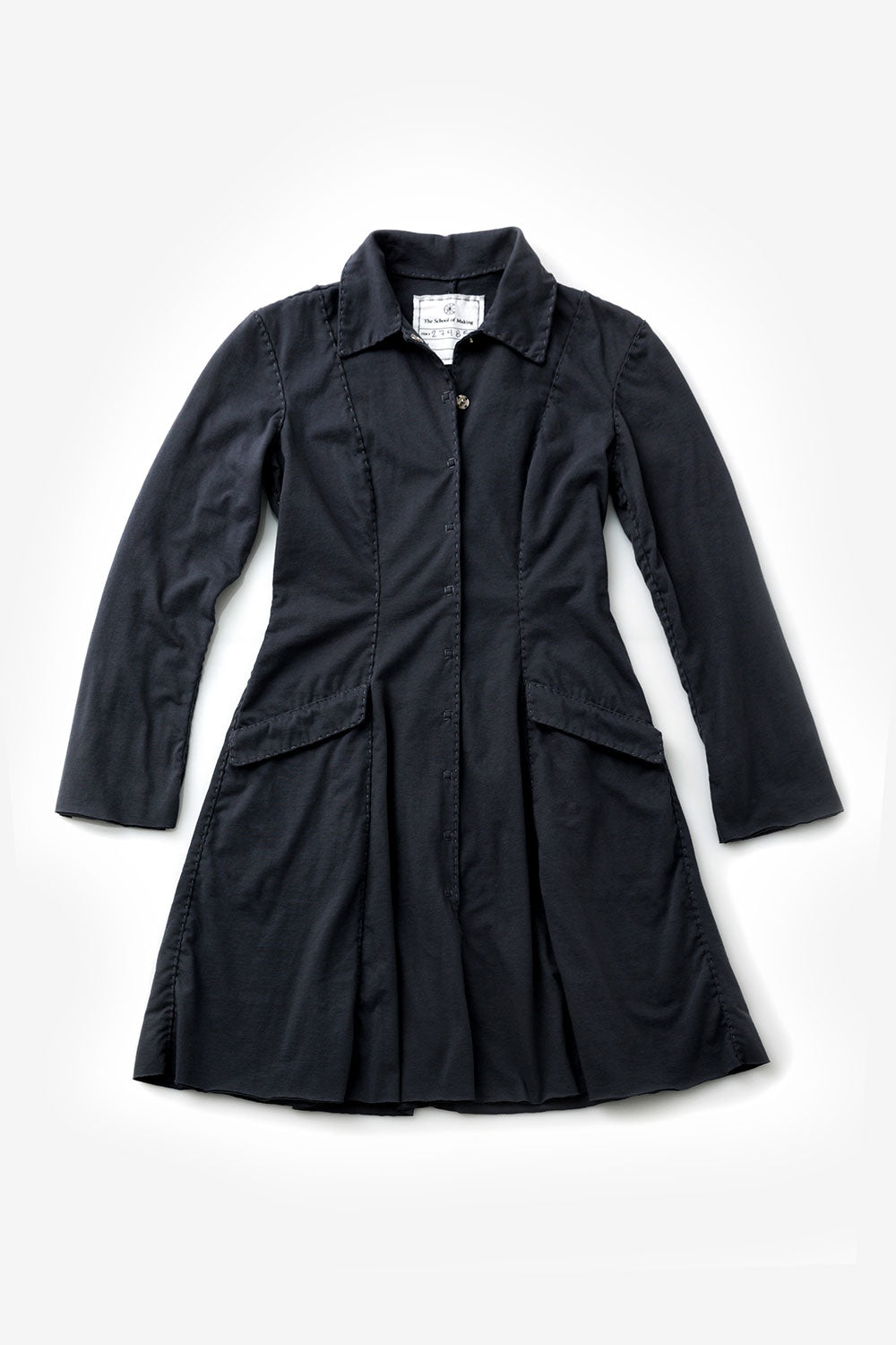 The School of Making The Ezra Coat Pattern Women's DIY Clothing Pattern for Hand-Sewn Short and Long Jacket