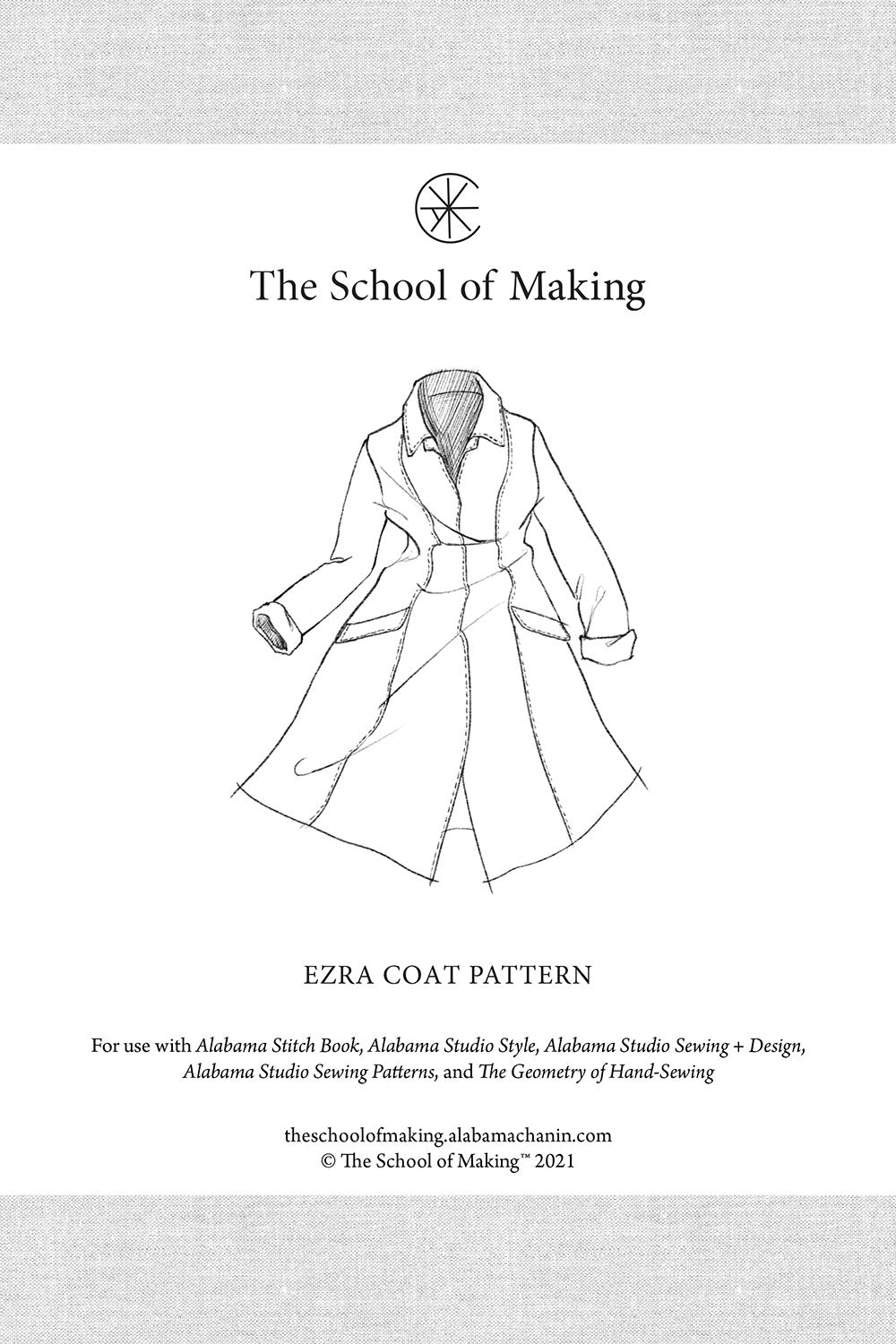 The School of Making Ezra Coat Pattern Maker Supplies for Hand-Sewing
