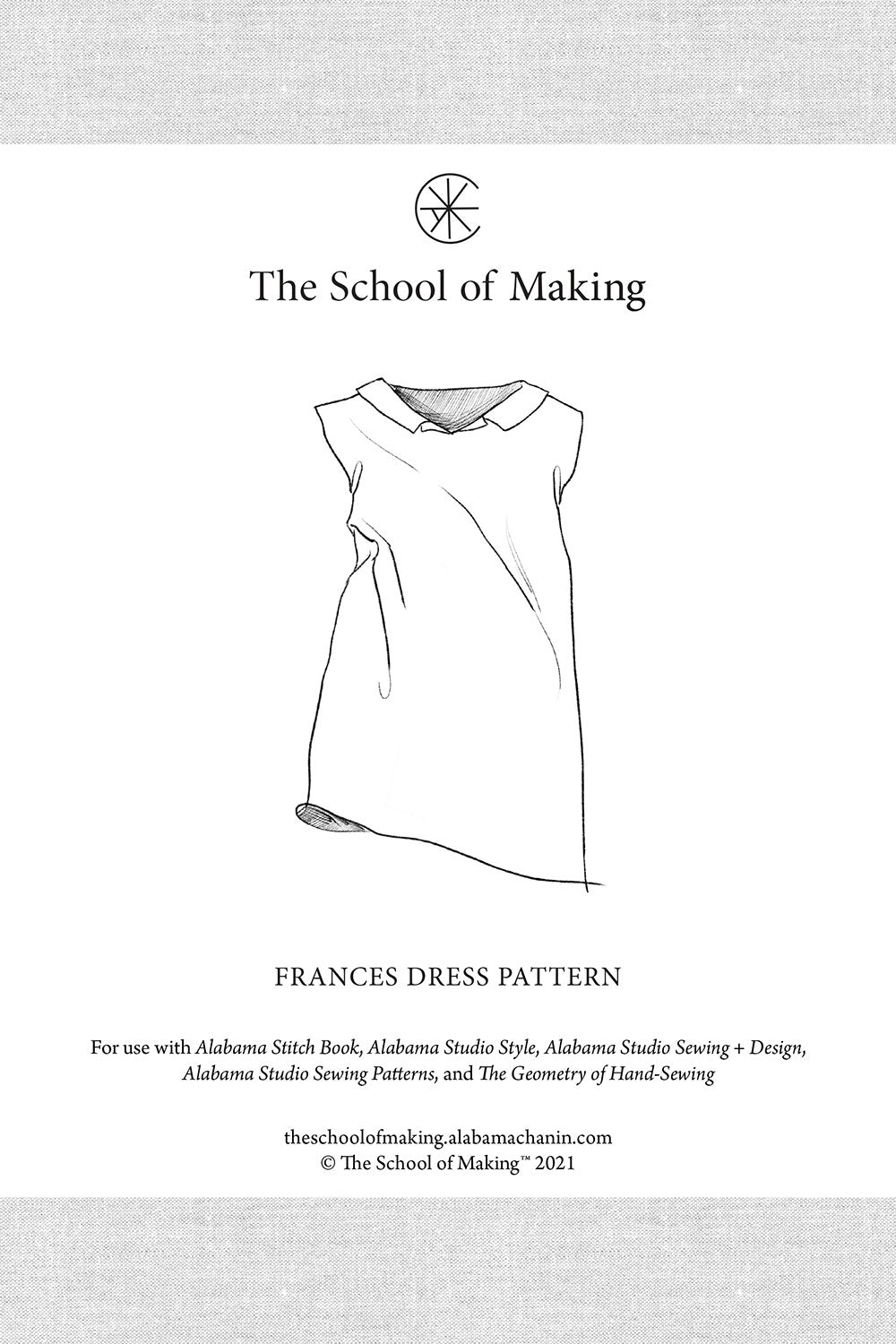 The School of Making Frances Dress Pattern DIY Sewing Pattern