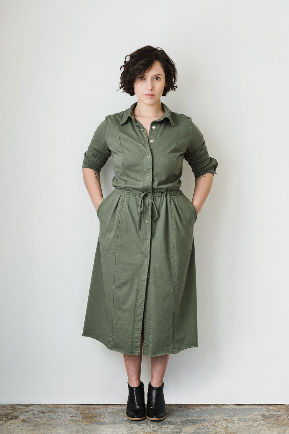 The School of Making The Jumpsuit Pattern Women's DIY Clothing Pattern for Hand-Sewn Jumpsuit and Dress