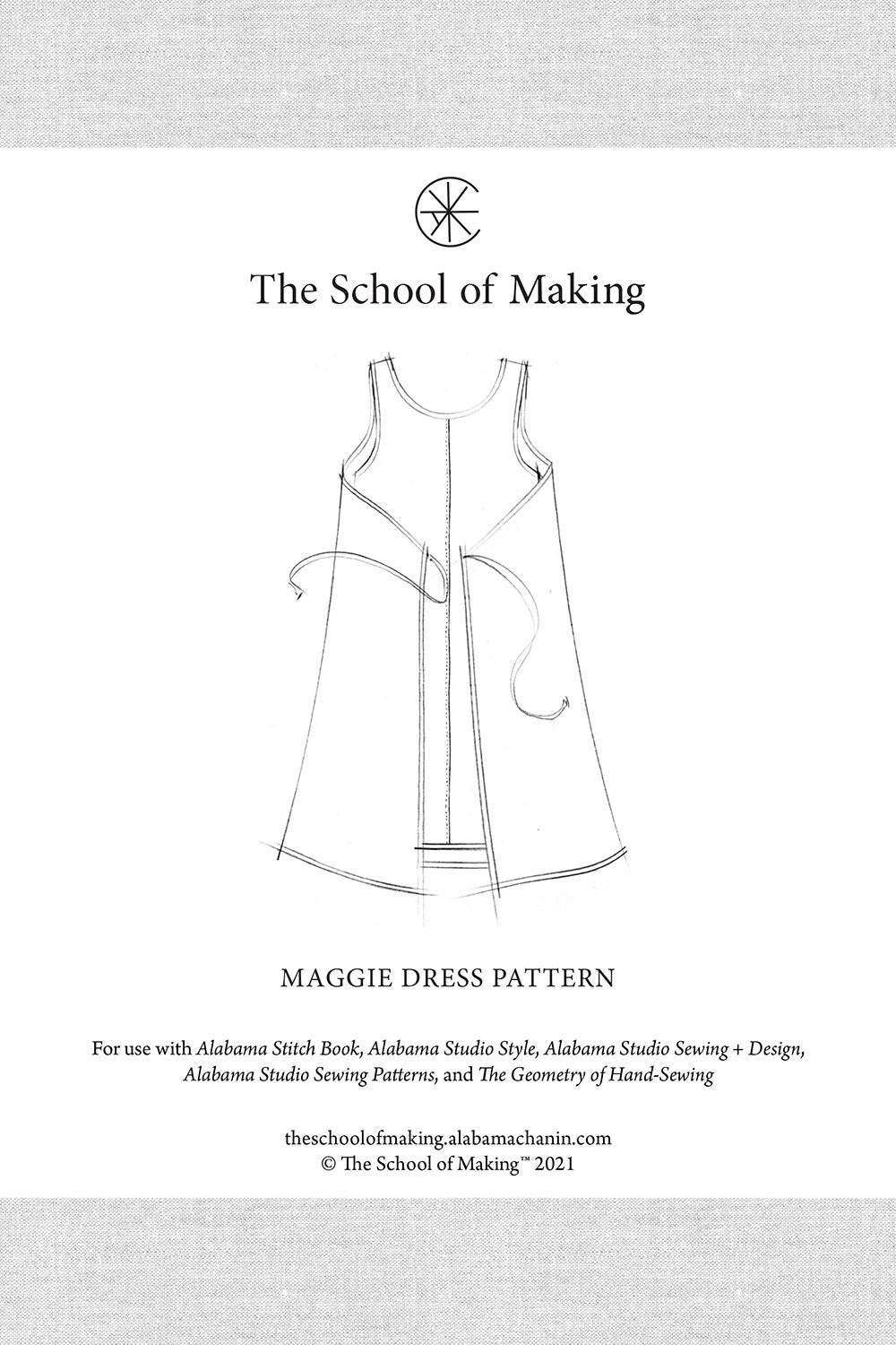 The School of Making The Maggie Dress Pattern Sewing Pattern for DIY Custom Clothing