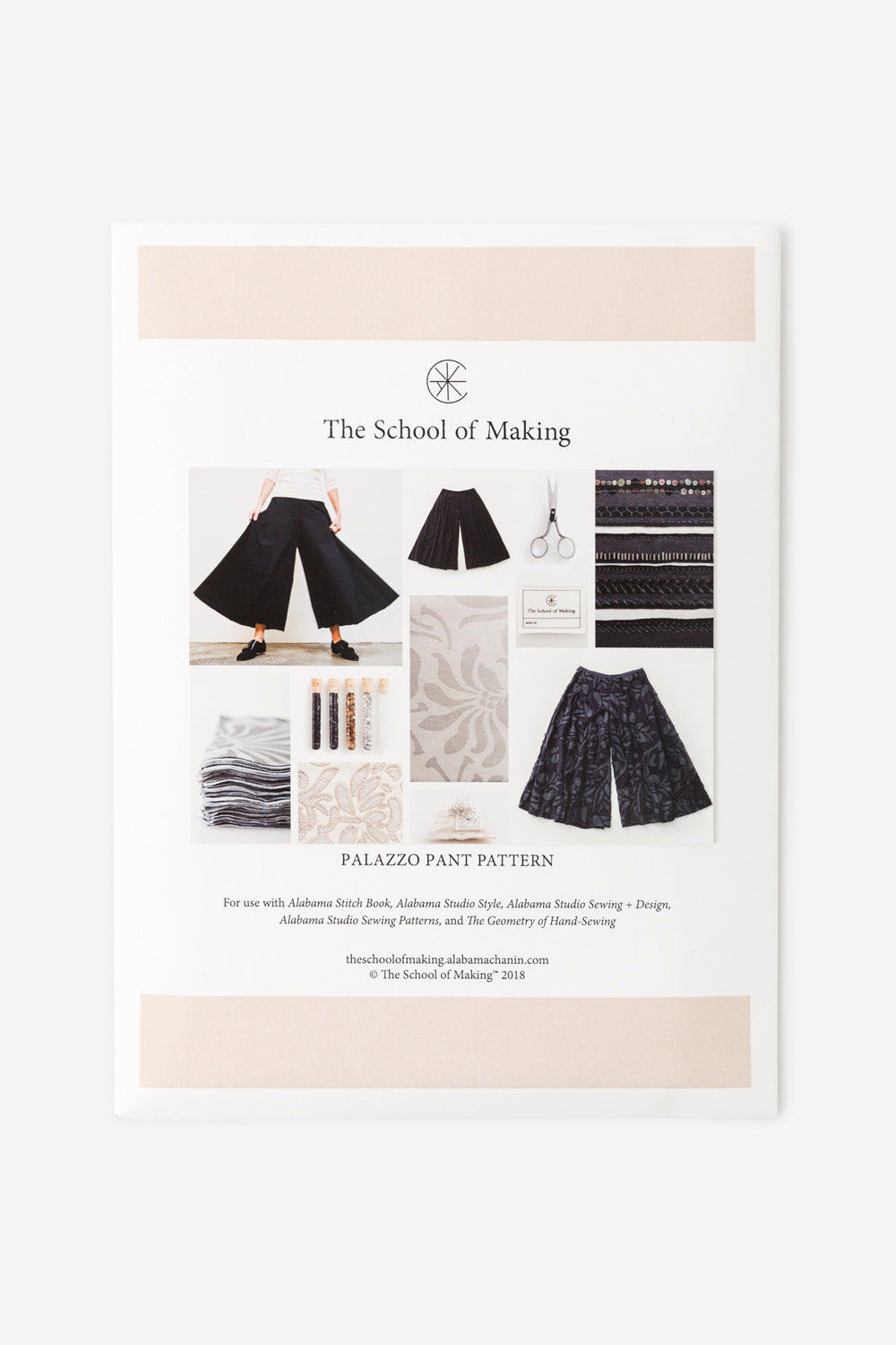 The School of Making The Palazzo Pant Pattern Women's DIY Clothing Pattern for Hand-Sewn Wide Leg Crop Pant
