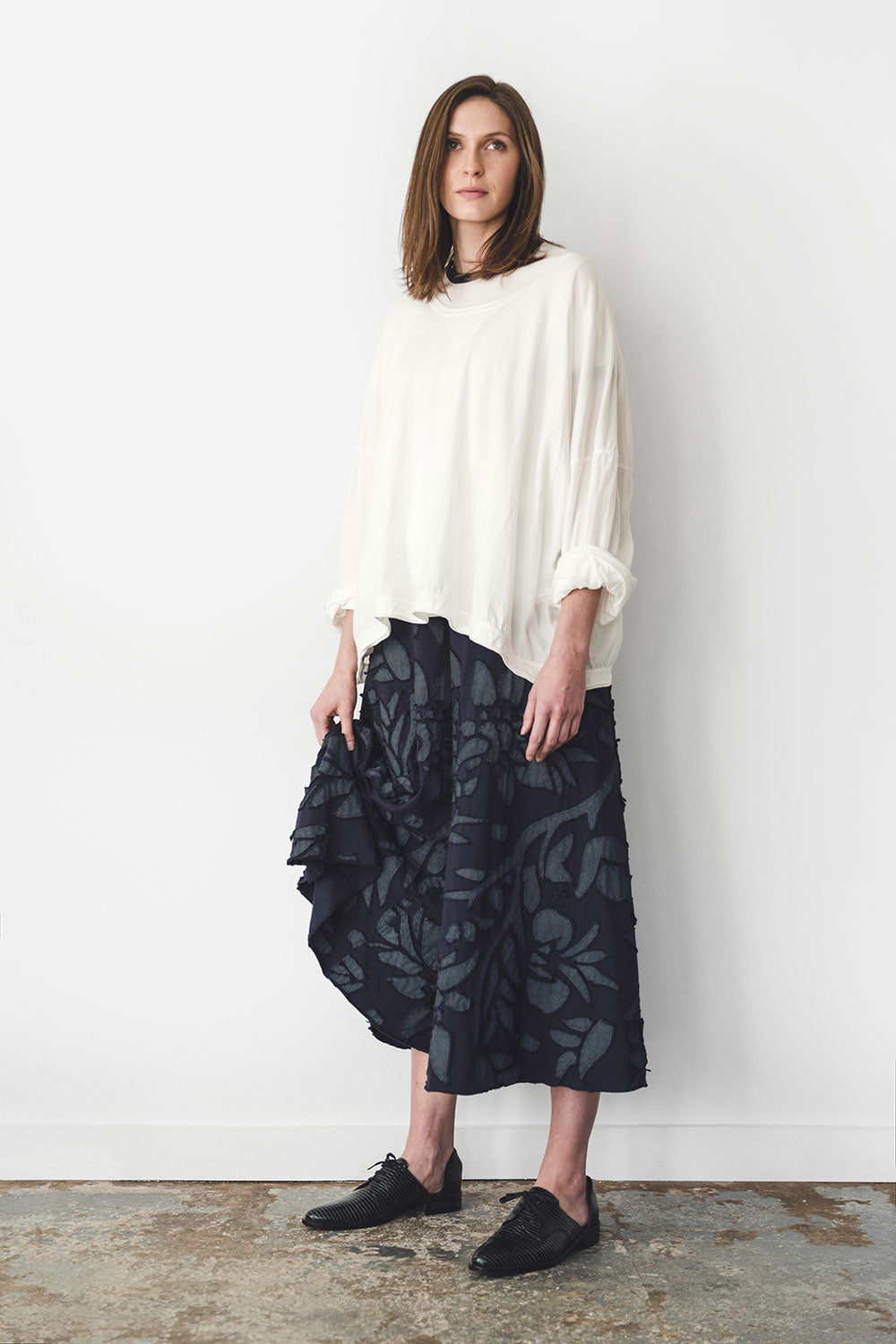 The School of Making Palazzo Pant Pattern Hand-Sewn Wide Leg Cropped Pant DIY Project