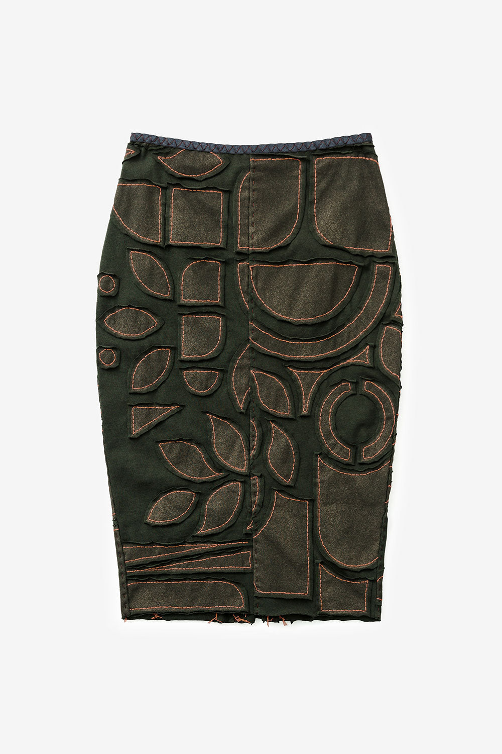 The School of Making Pencil Skirt Pattern Hand-Sewn Fitted Skirt with Embroidery Floss Maker Project