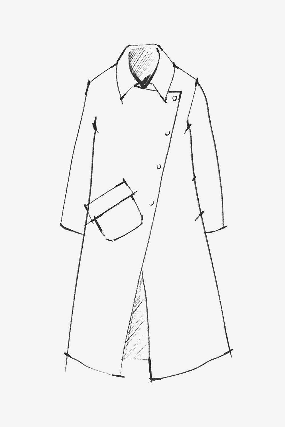 The School of Making The Pockets Pattern Sewing Pattern for Trench Coat and Jacket Pockets