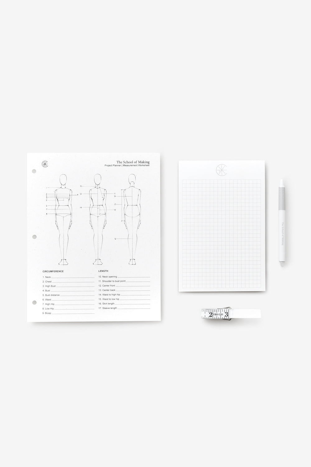 The School of Making Measuring Bundle Maker Supplies for Handmade Garments and Designs