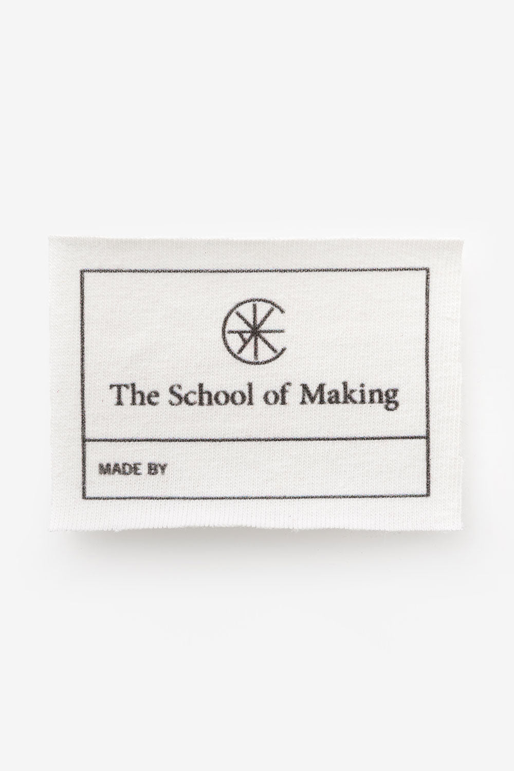 The School of Making TSOM Label for Hand-Sewing and Hand-Embroidery DIY Clothing Projects