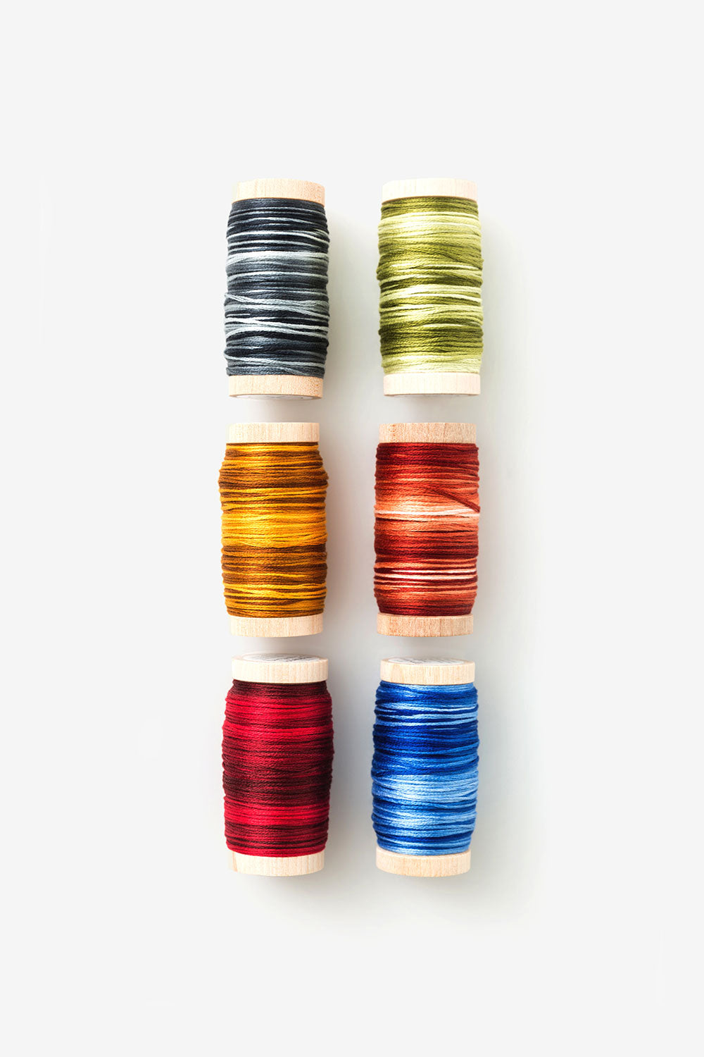 The School of Making Variegated Embroidery Floss Primary Floss Colors