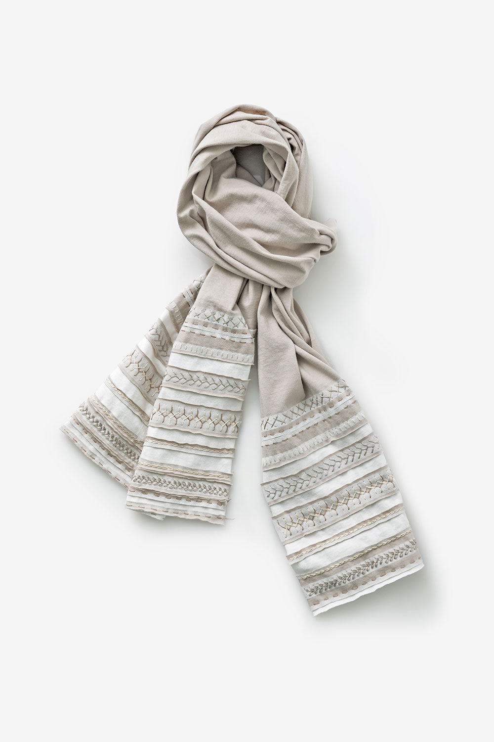The School of Making One-Day Embroidery Workshop Hand-Sewn Stripe Scarf Kit