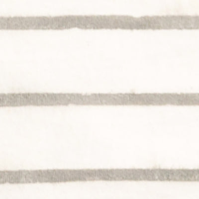 Organic Cotton Face Mask with hand-painted stripe in Natural