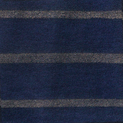 Organic Cotton Face Mask with hand-painted stripe in Navy