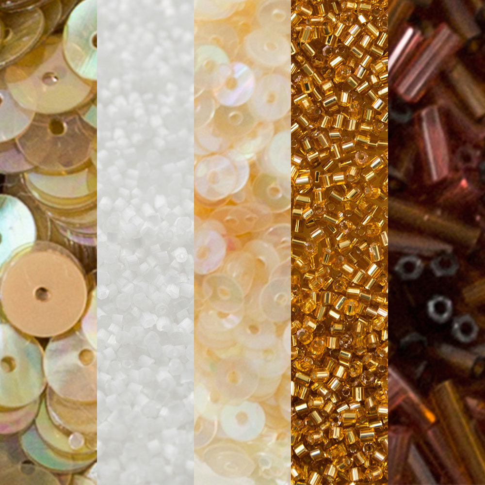 The School of Making Bead Mix Sampler for DIY Crafts in Gold and Red