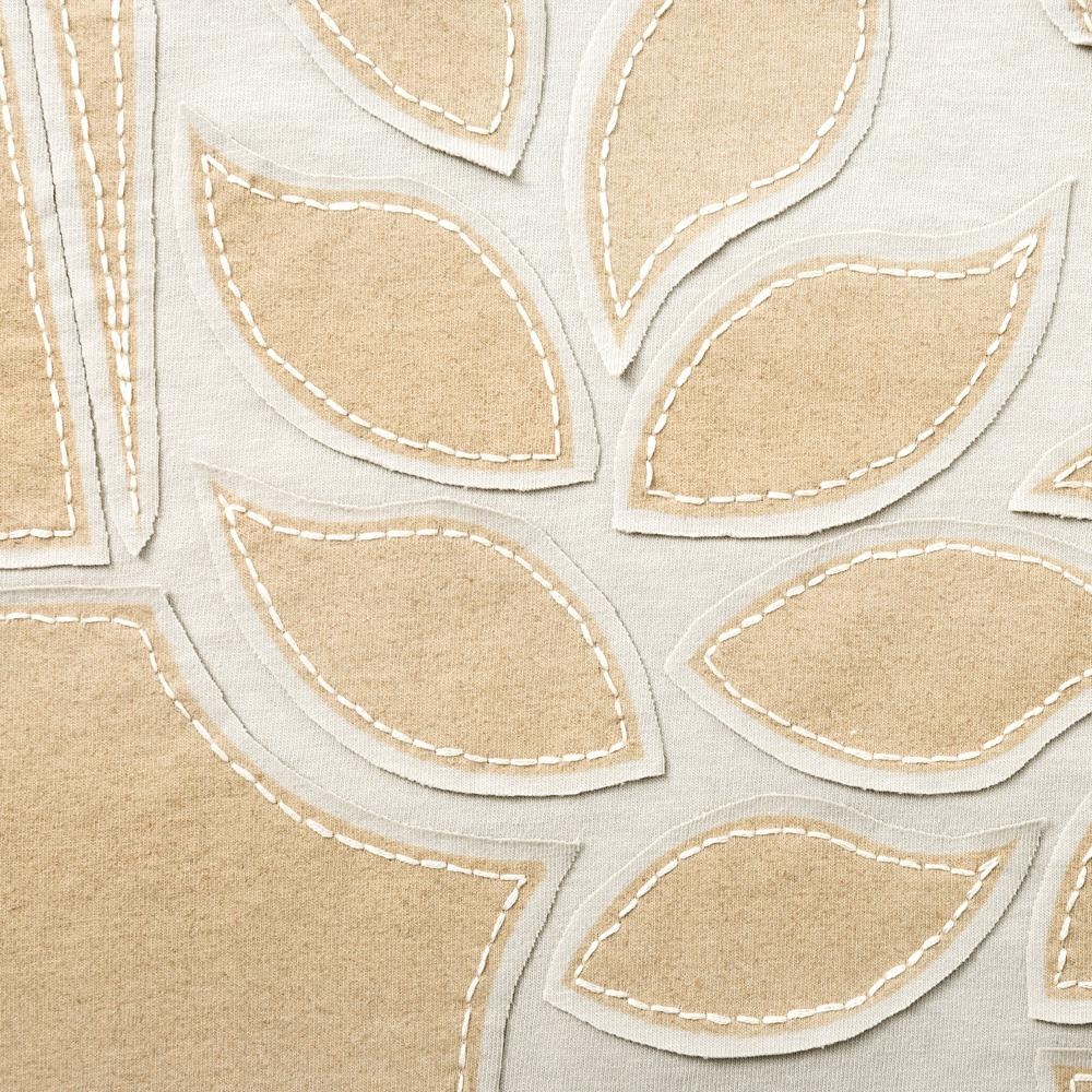 Organic Cotton Embroidery Abstract DIY Kit in Sand with Cream Floss