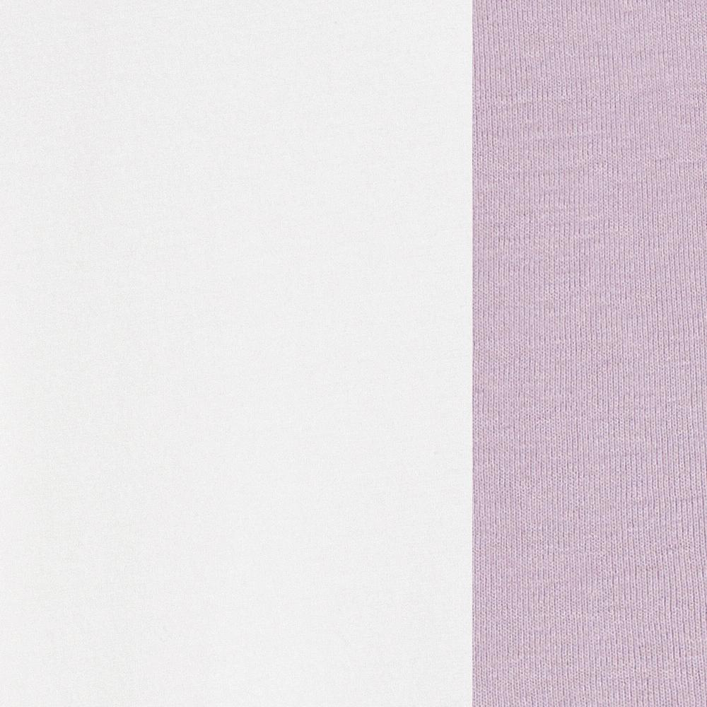 100% Organic Cotton Jersey in White/Lilac