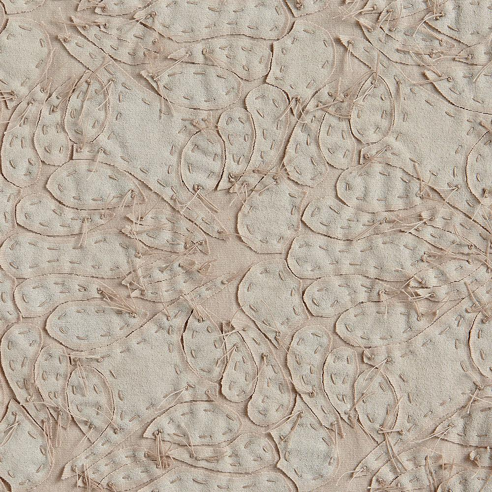 Alabama Chanin 100% Organic Cotton in Wax/Wax with Hand-sewn Lace Applique