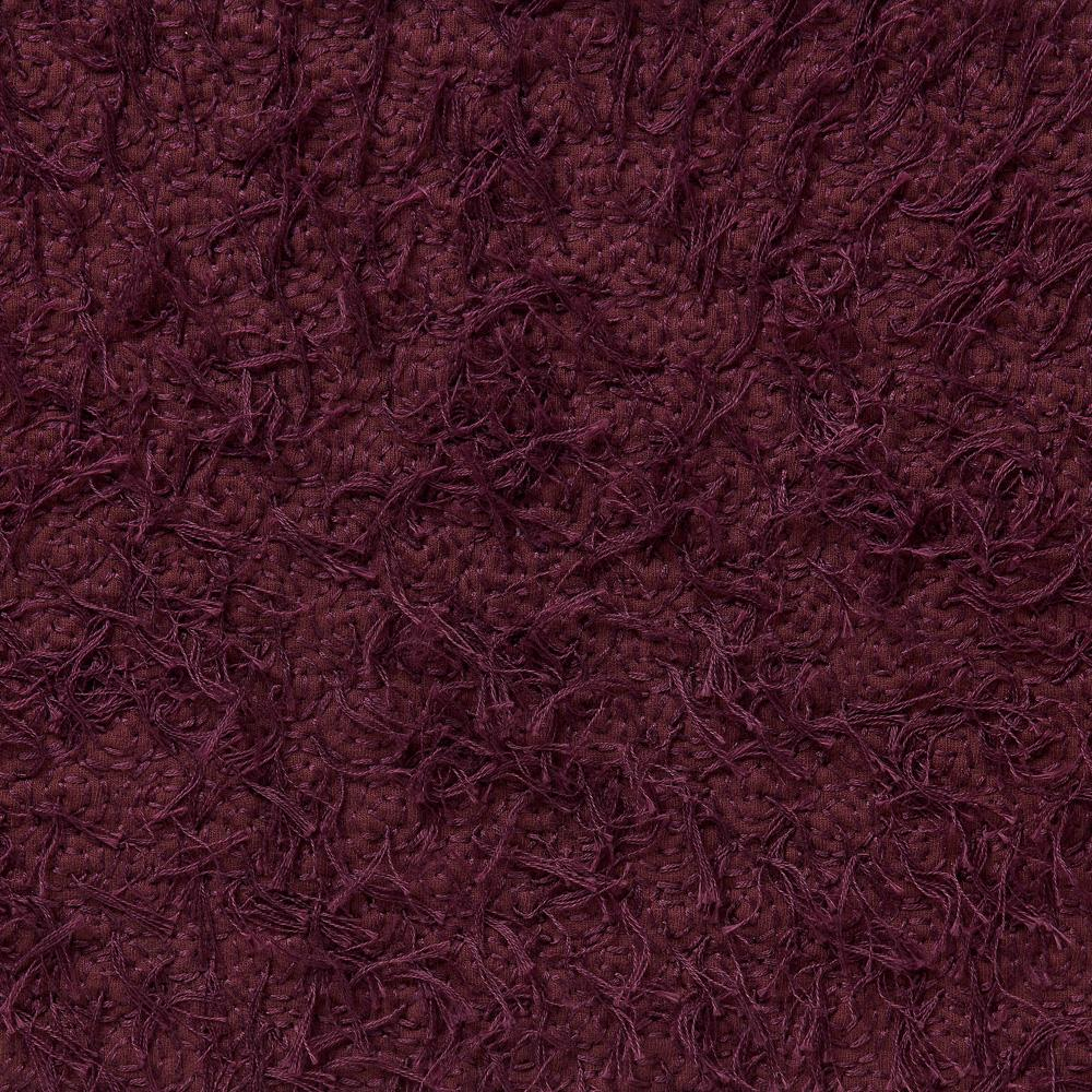 100% Organic Cotton Hand-Embroidered in Plum Spiral with Fur
