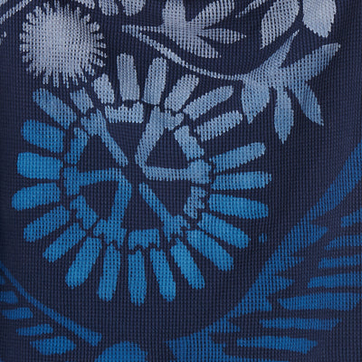 100% Organic Cotton Navy Waffle Painted in 21 Year Stencil