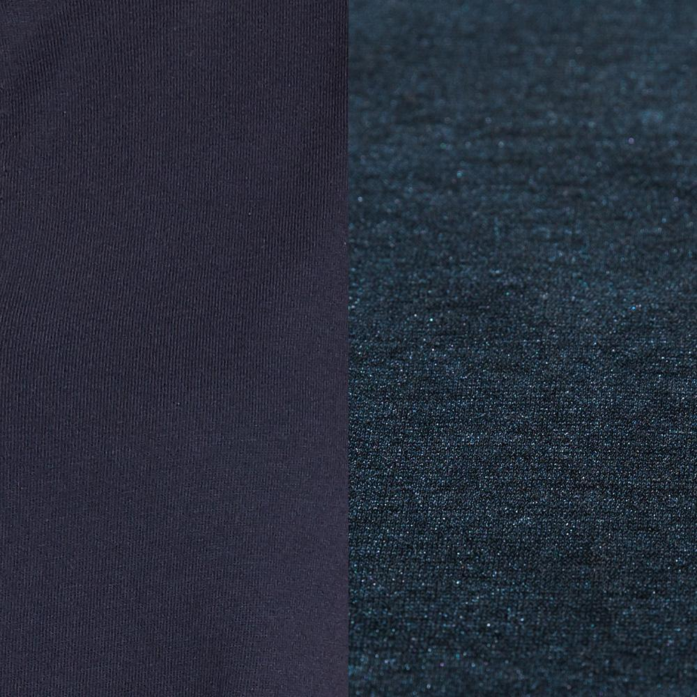 100% Organic Cotton Jersey in Navy with hand-painted Gilded finish