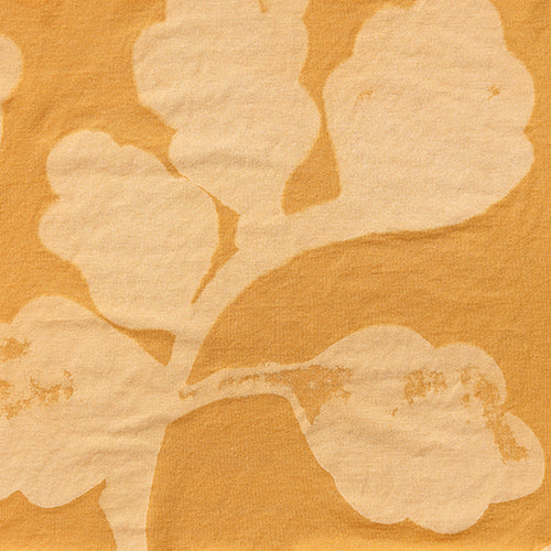 Alabama Chanin hand-painted Leaves in lightweight organic cotton jersey fabric in Gold for Summer of Color