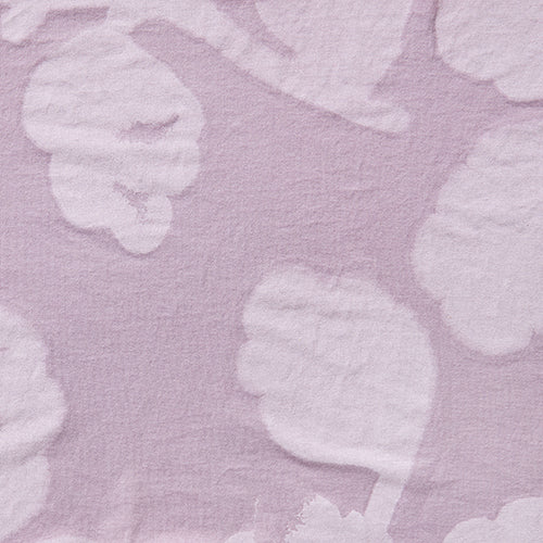 Alabama Chanin hand-painted Leaves in lightweight organic cotton jersey fabric in Lilac for Summer of Color
