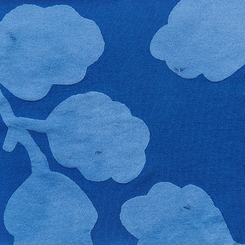 Alabama Chanin hand-painted Leaves in lightweight organic cotton jersey fabric in Venetian for Summer of Color